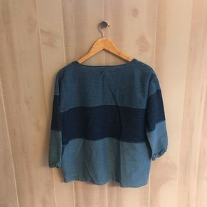Madewell Tops - Madewell Cotton Boxy Block Chambray Top